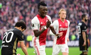 Ajax forward Bertrand Traore scores vs Olympique Lyonnais UEFA Europa League semi-final