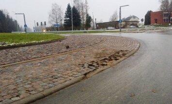 Rotācijas aplī Vallē šonedēļ veiks avārijas remontdarbus, ceļu labos pavasarī