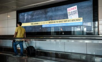 Stambulas lidostā reklamē, ka Zviedrijā ir pasaulē augstākais izvarošanas līmenis