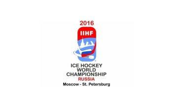 2016.gada pasaules hokeja čempionāta logo - ar Kremli un Trocka tiltu