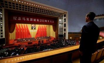 Foto: Ķīnā 200. jubilejā godina komunisma tēvu Kārli Marksu