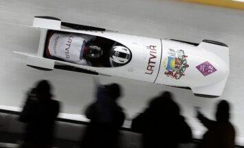 XXII Ziemas olimpisko spēļu vīriešu bobsleja divnieku sacensību rezultāti pēc diviem braucieniem (16.02.2014.)