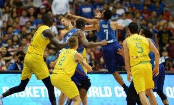 FIBA soda skandalozās Austrālijas-Filipīnu spēles kautiņa dalībniekus un tiesnešus
