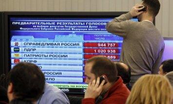 Krievijas pilsoņi ārzemēs piketēs pret vēlēšanu rezultātiem