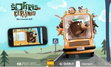 Bērnu izglītošanai ceļu satiksmes drošībā radīta aplikācija 'Šoferis Ķepainis'