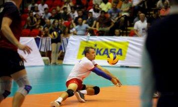 Latvijas volejbola izlases libero Ivanovs: bumba bija kā noburta un nekas negāja no rokas