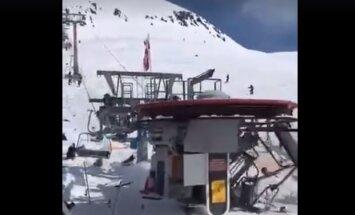 Baiss video: Gruzijas kūrortā, salūstot pacēlājam, ievainoti astoņi cilvēki