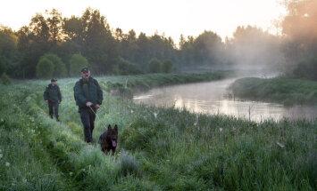 Sašautais nelegālais imigrants nereaģēja uz brīdinājuma šāvieniem, sita robežsargam un dienesta sunim