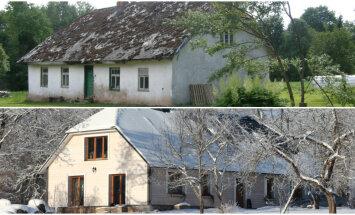 Pirms un pēc: lauku māja Valmieras pusē, kas ieguvusi otro elpu