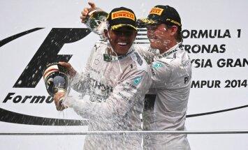 Rosbergs uzvar Vācijā, Hamiltons finišē uz pjedestāla no 20.starta pozīcijas