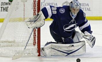 ВИДЕО: Шлемы российских вратарей НХЛ меняют цвет от попадания воды