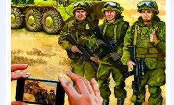 Ilustrācijas: Kā Krievijas armija cīnās pret 'selfiju karavīriem'