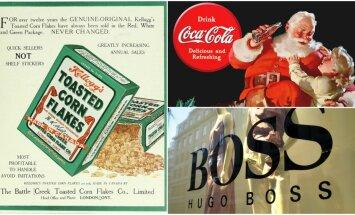 Brāļošanās ar nacistiem, kokaīna propaganda un spiegošana: slavenu zīmolu noslēpumi
