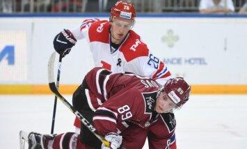 Foto: Rīgas 'Dinamo' piekāpjas LDz kausa fināla pretiniekiem Jaroslavļas 'Lokomotiv'