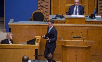 Igaunijas valdības krišana: Trīs partijas sola veidot atvērtu valdību