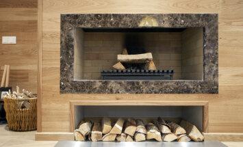 Dekoratīvs un ekonomisks siltuma avots rudenim - kamīns