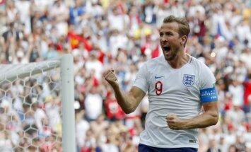 Anglijas futbolisti jau pirmajā puslaikā 'sabradā' Panamu; Keinam trīs vārti