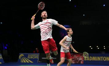 Eiropas čempionātā badmintonā pusi medaļu izcīna mājinieki dāņi