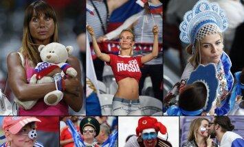 Atraktīvākie un krāšņākie Krievijas futbola izlases fani