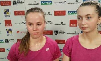 Badmintonistes Lencēviča/ Romanova EČ cerēja ilgāk palikt turnīrā