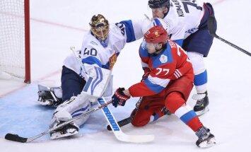 Ivan Telegin scores goal Tuukka Rask