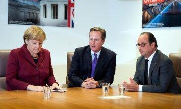 Izstājoties no ES, Lielbritānijas ietekme mazināsies, brīdina Merkele