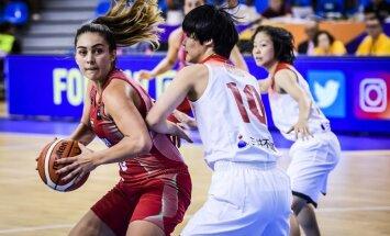 Latvijas U-19 basketbolistes Pasaules kausa mačā uzvar Dienvidkoreju