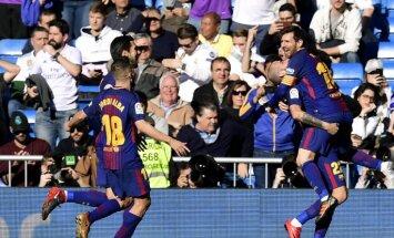 'Barcelona' 'El Clasico' duelī uzvar Madrides 'Real'