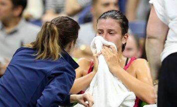 Севастова получила травму и проиграла в четвертьфинале US Open