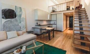 Izmantot katru centimetru: kompakti iekārtots divlīmeņu dzīvoklis Āgenskalnā