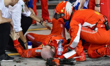 Raikonena savainotajam 'Ferrari' mehāniķim izdarīta kājas operācija