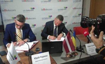 'Lattelecom' un Ukrainas telekomunikāciju līderis 'Ukrtelekom' vienojas par kopīgu sadarbību
