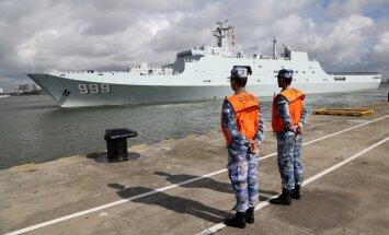 Džibuti tapusī pirmā Ķīnas militārā bāze ārvalstīs uzņem karavīrus