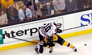 'Blackhawks' līderis Šarps: mums ir raksturs