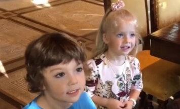 Video: Pugačova un Galkins savus dvīņus dāsni apdāvina dzimšanas dienā