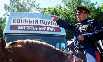 Krievijas pašpasludinātie kazaki jās 'iekarot' Berlīni