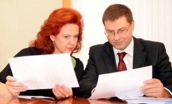 Dombrovskis iesaka 'Vienotības' priekšsēdētājas amatam virzīt Āboltiņu