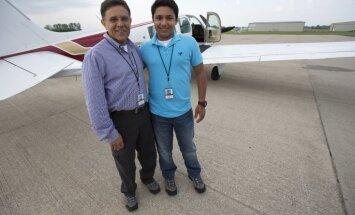Cenšoties pārspēt rekordu lidojumā apkārt pasaulei, iet bojā pusaudzis