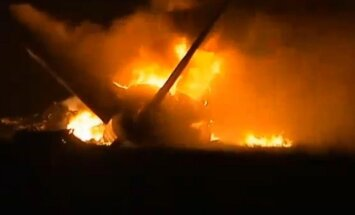 ASV avarējusi liela kravas lidmašīna (+FOTO)