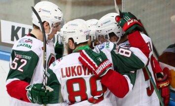 Kazaņas 'Ak Bars' nonāk uzvaras attālumā no KHL čempiontitula