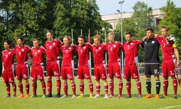 Paziņots Latvijas U-19 futbola izlases kandidātu saraksts pārbaudes spēlēm ar Krieviju