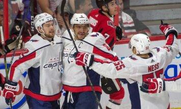 Чемпионат НХЛ: Овечкин начал с хет-трика, Гиргенсонс — с поражения