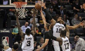 Bertānam pieticīgs sniegums 'Spurs' zaudējumā 'Grizzlies' komandai