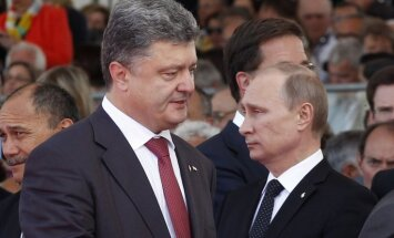 Putins telefonsarunā draudējis Porošenko ar uzbrukumu