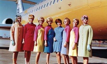 Gaisīgā mode: stjuaršu uniformu pārvērtības 85 gadu laikā