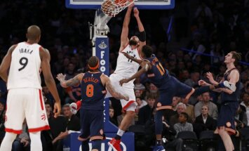Bez Porziņģa spēlējošā 'Knicks' piedzīvo septīto zaudējumu pēc kārtas