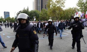 Polijas futbola līdzjutēju sadursmēs ar policistiem Madridē septiņi ievainoti