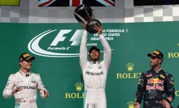 Hamiltons ASV izcīna 50. 'Grand Prix' uzvaru