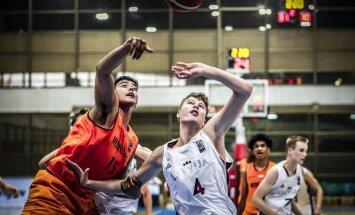 Latvijas U-16 basketbola izlase pret Nīderlandi izcīna pirmo uzvaru Eiropas čempionātā
