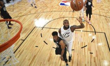 ФОТО, ВИДЕО: Команда Леброна победила команду Карри в Матче всех звезд НБА